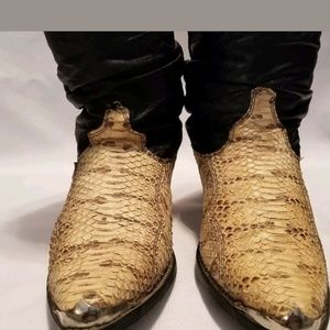 0c53af6ea4d Men's Vintage Dingo Snake skin Slouch cowboy boots